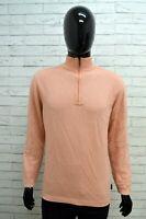 Maglione con Zip in CASHMERE Uomo AUSTRALIAN Taglia L Felpa Pullover Sweater Man
