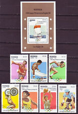 NICARAGUA 1983; 23RD OLYMPIC GAMES; COMPLETE SET OF 7+SS;SC # 1201-1208;USED,CTO