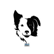 Border Collie Split Face Vinyl Sticker Akc Register Dog Groomer Rescue I Love