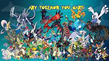 5x Pokemon Sun and Moon Battle Ready Any Pokemon you want