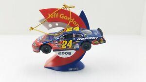 NASCAR Jeff Gordon Car Trevco 2006 Christmas Tree Ornament #24 Free Shipping