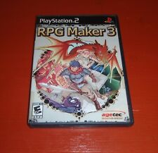 RPG Maker 3 (Sony PlayStation 2, 2005 PS2) -Complete