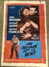 VINTAGE 1958 CAR SAUVAGE FOREIGN MOVIE THEATRE POSTER NATIONAL SCREEN SERVICE CO