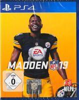 Madden NFL 19 - PlayStation 4 PS4  EA Sports Football Neu & OVP Deutsche Version