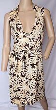 Diane Von Furstenberg St Jude Coral Reef Jersey Silk Wrap Dress XS 0