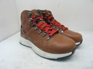 KEEN Mens Manchester Aluminum Toe Composite Plate Mid-Cut Boots Rust/Red 9EE