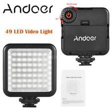 Dimmable DV Camera Video Lighting LED Light Panel Lamp Bulb +Shoe Mount Adapter