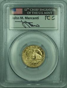 1992-W Columbus $5 Commemorative Gold Coin PCGS MS-69 John Mercanti Signed
