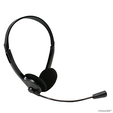 Ligero Estéreo Skype Cascos con micrófono 3.5mm Alcachofa Ducha para portátil PC