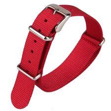 Cinturino In Nylon Universale Ricambio Orologio Larghezza 18mm Rosso lac