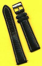 GENUINE BREITLING LEATHER WATCH STRAP BLACK 22mm NEW
