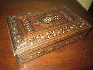 An antique Anglo Indian mosaic inlaid box