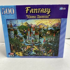 "Paper City 500 Piece Jigsaw Puzzle Fantasy  ""Magic kingdom "" New sealed box"