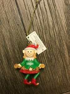 Ganz Elf Holiday Ornament Personalized MEGAN Stocking Stuffer-Gift Topper