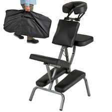 Massagestuhl Tattoostuhl Behandlungsstuhl Massagebank schwarz + Tasche