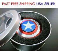 EDC Fidget Spinner Hand Finger Desk Spinner Focus Toys Captain America Shape 【US