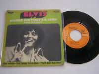 SP 2 TITRES VINYLE 45 T ELVIS PRESLEY WHERE DID THEY CO , VG- / VG+. RCA 49.733