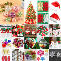 Christmas Party Ornaments Snowman Snowflake Hanging Balls Bauble Xmas Tree Decor