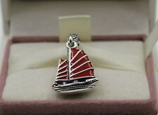 AUTHENTIC PANDORA  Chinese Junk Ship, Red Enamel & Clear CZ, 791908E        #294