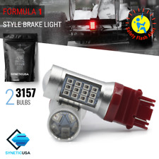 3157 Bright Red Flash Strobe Rear Blinker Alert Brake Tail Stop LED Light Bulbs