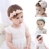Newborn Kids Baby Girls Toddler Flower Headband Hair Band Headwear Accessorie~