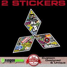 MITSUBISHI STICKERBOMB decal vinyl sticker jdm evo evolution lancer logo badge