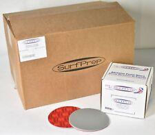 """300x SurfPrep 6"""" x 5mm PREMIUM Black S/C 2800-3500 Grit Abrasive Foam Discs"""