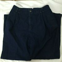 Liz Sport Blue Jeans Womens Size 16 Pleated High Rise
