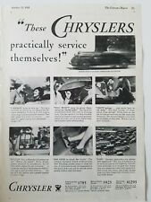 1933 Chrysler car practically service themselves vintage ad