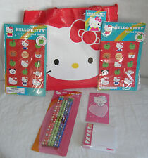 Hello Kitty Tote Shopping Bag Red Pencils Sticky Notes Stickers PLUS Valentine