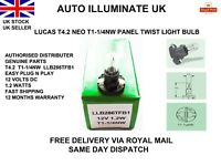 Lucas T4.2 Car Bulb T1-1/4NW Dash Instrument Gauges Panel Dials Speedo 12v 1.2w