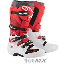 Alpinestars Tech 7 Motocross MX Offroad Race Boots White Red Burgundy Adults