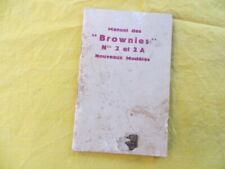 Manuel des KODAK Brownies 2 & 2A