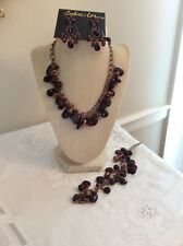 Pinot Passion Necklace, Earrings & Bracelet Brown copper NWT