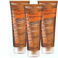 3x Tannymaxx Brown Fruity Funatic Dark Bronzing Lotion