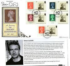 2007 40th ANNIVERSARY MACHIN SIGNED SIMON GARFIELD BENHAM FIRST DAY COVER