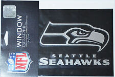 Seattle Seahawks Rams Silver Chrome Window Graphic Decal NFL Football - 4x5
