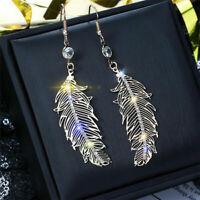 Earrings Boho Jewelry Hook Drop Dangle Feather Classic Silver/Gold Fashion