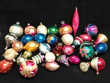 Antique Christmas Ornaments - set of 33 various shaped Mercury Glass