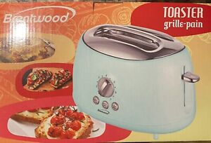 Brentwood TS-270BL Cool Touch 2 Slice Blue Retro Toaster