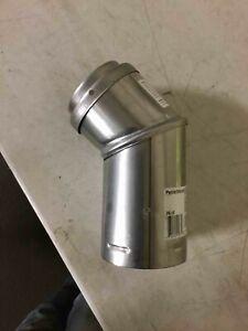 "Pellet Vent 3"" Adjustable Horizontal Cap Dura Vent stove pipe 3PVL-HC pellet new"