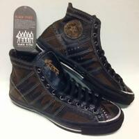 CONVERSE ALL STAR BLACK FIVES 28.5 US10 LEATHER RUBBER SNEAKERS SHOES MEN BROWN