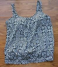 BUILD YOUR OWN SWIMSUIT 26W BAND HIDE THE MUFFIN TOP TANKINI TRIBAL PRINT 26 3X
