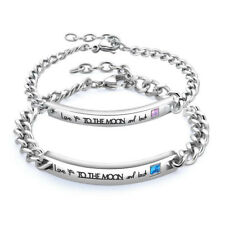 Gifts for Him Her boyfriend husband LOVE Couple Bracelet Birthday Valentines Day