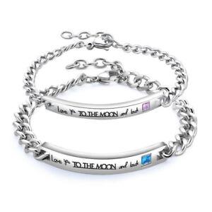 Gifts for Him Her boyfriend husband LOVE Couple Bracelet Birthday Valentines Day