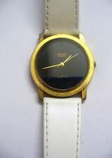Vintage SEIKO Men's Watch  Quartz Movement H449 5379 Genuine leather band