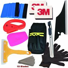 PRO Tools Kit Car Wrap Vinyl Scratchfree Squeegee with felt Combo Set