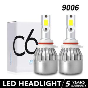 Pair 9006 LED Headlight Bulbs Kit Low Beam or Fog Light 6000K White 100W 32000LM