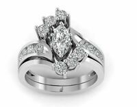 2.75 Ct Marquise Diamond 14k White Gold Over Engagement Wedding Bridal Ring