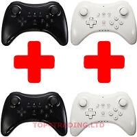 2X Bluetooth Wireless Pro Controller Gamepad Remote for Nintendo Wii U Black New